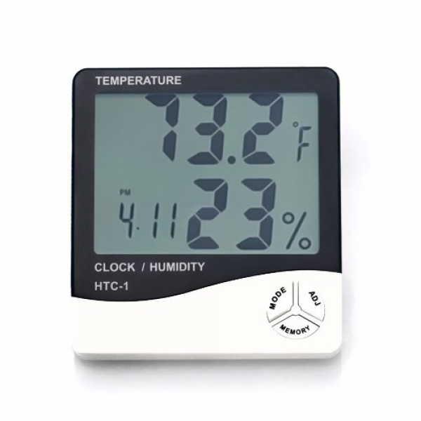 LCD Digital Alarm Clock Thermometer temperature Humidity Hygrometer ...