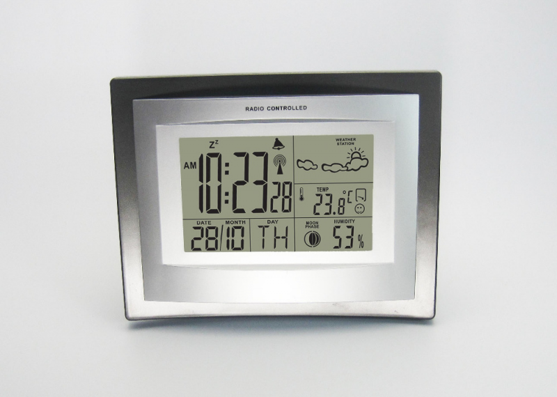 LCD Weather Station with Digital Alarm Clock Thermometer Hygrometer ...