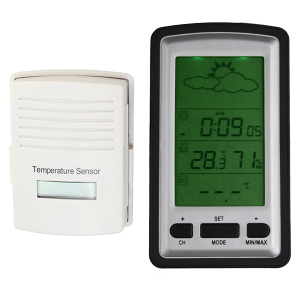 Thermometer Temperature Sensor Digital LCD Wireless Weather Station ...