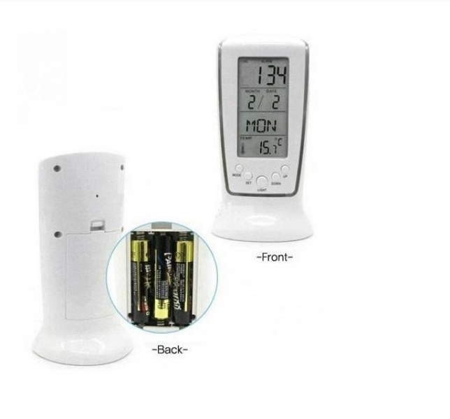 ... Clock Calendar LED Backlight Desktop weather station Clocks with free