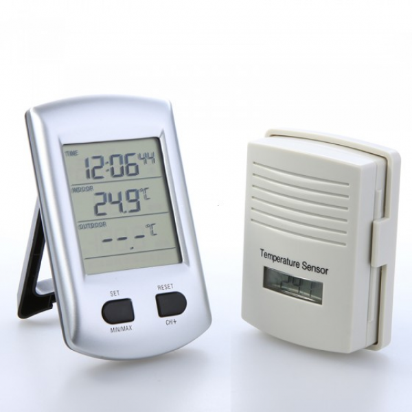Digital Wireless Indoor Outdoor Thermometer Weather Station Clock ...