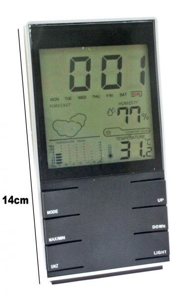 ... Clocks :: Digital Weather Station Hygrometer Thermometer Alarm Clock