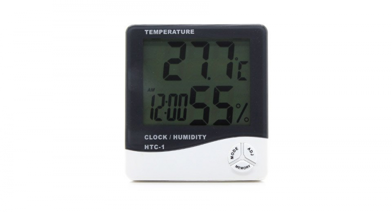 99 HTC-1 3.8 LCD Indoor Digital Thermo-hygrometer w/ Clock - 1*AAA ...