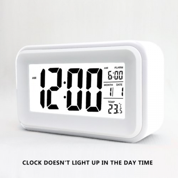 HITO™ 6″ Alarm Clock w/ Date and Temperature Display, Repeating ...