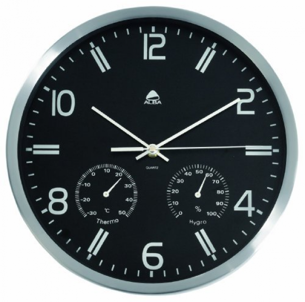 Other Home & Living - Alba Weather Wall Clock Quartz with Temperature ...