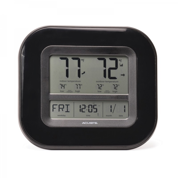 AcuRite Digital Indoor / Outdoor Thermometer with Atomic Clock 01031