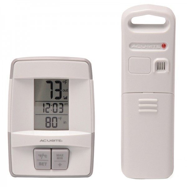 AcuRite Digital Indoor / Outdoor Thermometer with Clock 00782W