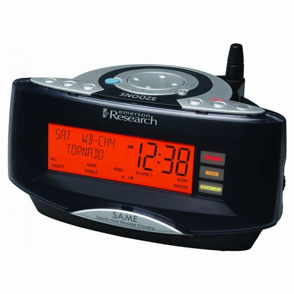 ... Dual Alarm Clock Radio with NOAA/Same Weather Alert System (Black