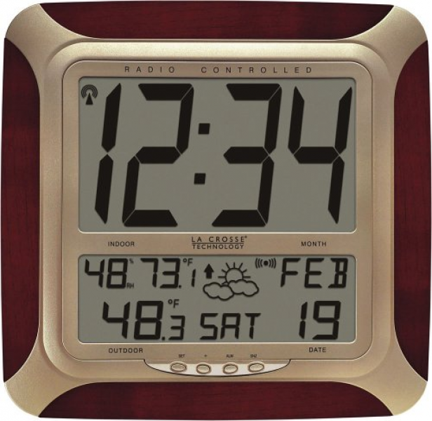 ... La Crosse Technology WS-8249-CH Atomic Wall Clock with Forecast (La