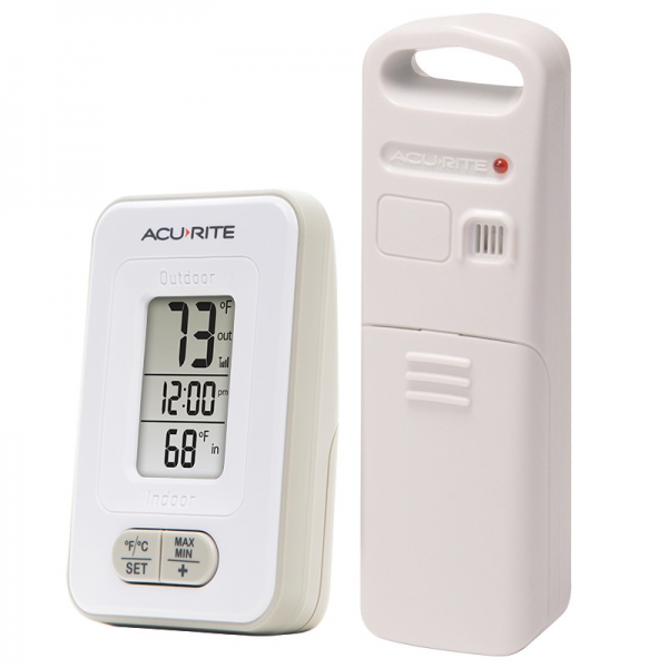 AcuRite Digital Indoor / Outdoor Thermometer with Clock 02044