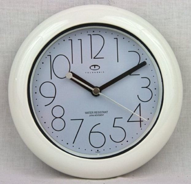 Water Resistant Wall Clock with Quiet Sweep Movement $21.95