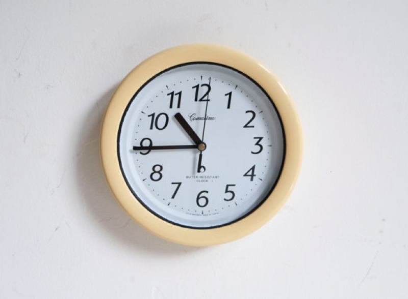 ... Costmotime Water Resistant Cream Circular Wall Kitchen Clock