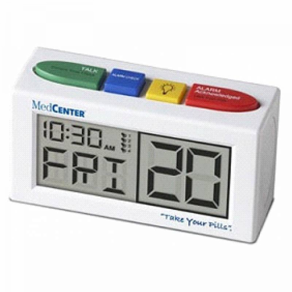 MedCenter Take Your Pills Talking Alarm Clock Pill Reminder - Join the ...