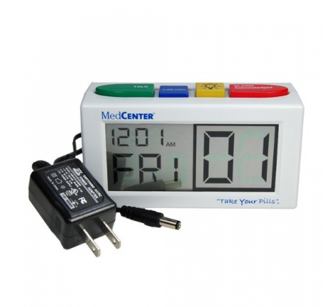 MedCenter 4 Alarm Talking Reminder Clock with AC Adapter -- 1 Clock $ ...