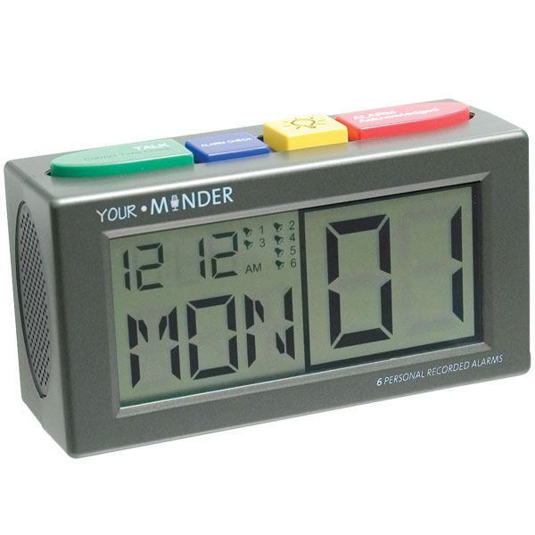 MedCenter Your.Minder Talking Personal Recording Alarm Clock - records ...