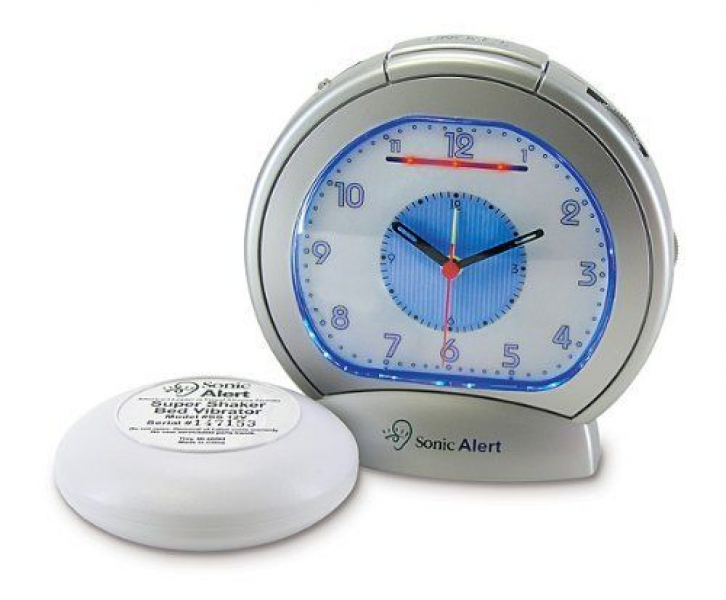 Sonic Boom SBA475ss Analog Loud Plus Vibrating Alarm Clock by Sonic ...