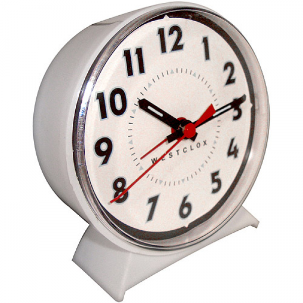 Westclox Keywound Loud Bell Analog Alarm Clock - Walmart.com