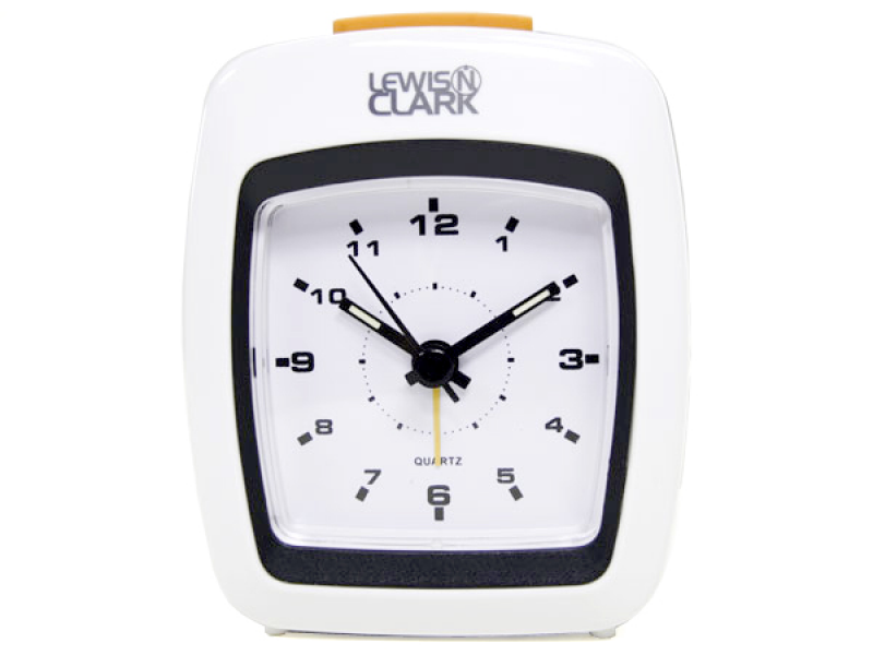 Lewis N Clark Travel Analog Alarm Clock w Loud 110dB Alarm Glow in ...