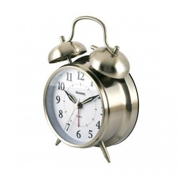 Double Bell Alarm Clock Loud Retro Battery Operated Loudest Vintage ...