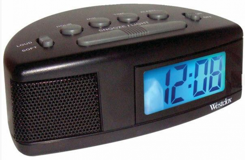 Westclox Digital Alarm Clock Battery Operated Loud or Soft Adjustable ...