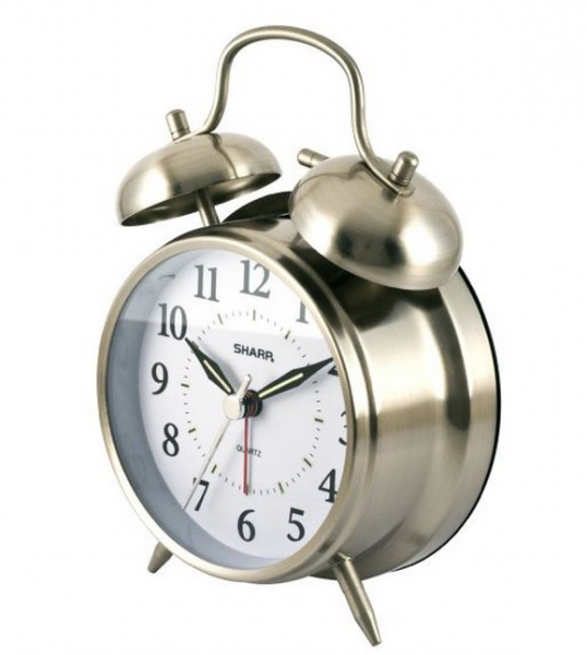 ... Sharp SPC800 Quartz Analog Twin Bell Alarm Clock (Silver) $7.88 (BCG