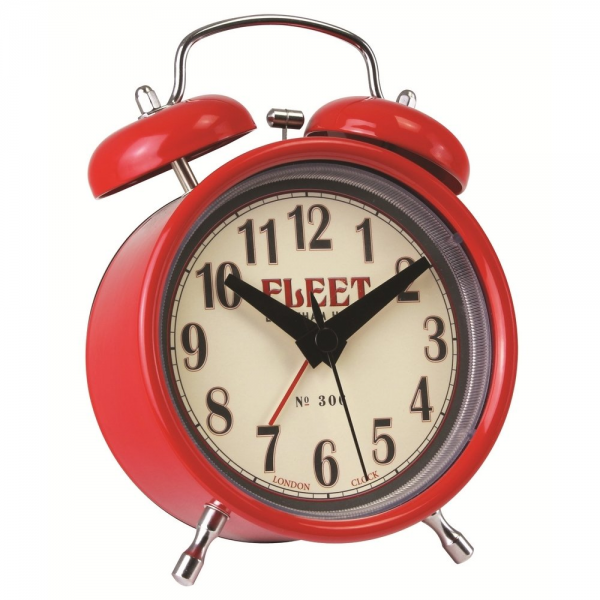 London Clock Co London Clock Co Red Twin Bell Alarm - London Clock Co ...