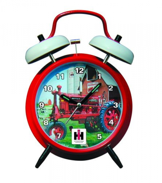 Twin Bell Alarm Clock with Red Finish. Digital Quartz Alarm Clock ...