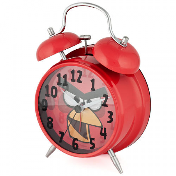 Angry Birds Twin Bell Alarm Clock - Red - M.Z. Berger & Company - Toys ...