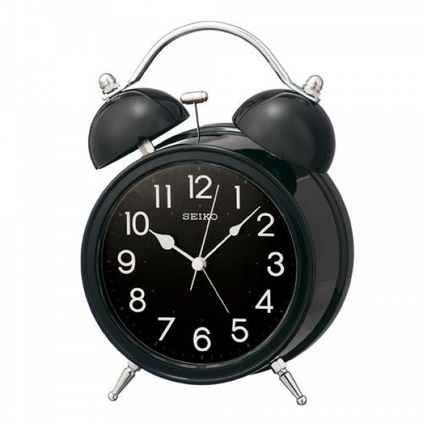 ... 3s | Rakuten Global Market: SEIKO twin bell alarm clock black KR875K