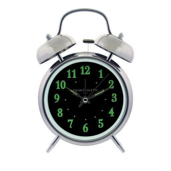 Twin Bell Alarm Clock Black Dial