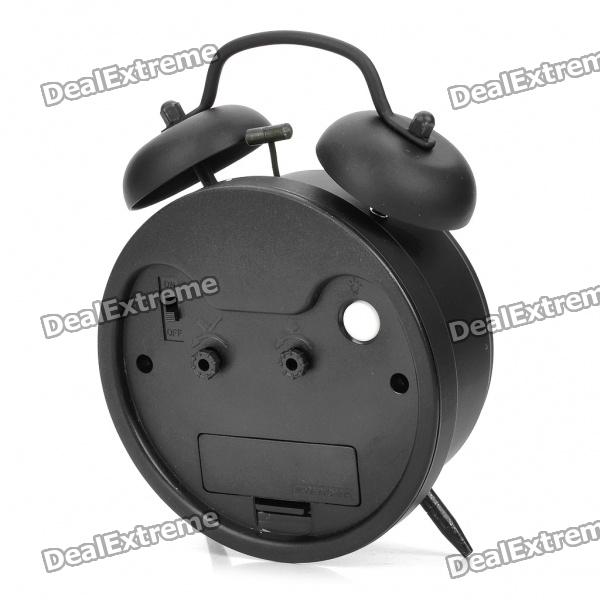 ... Pattern Twin Bell Alarm Clock - Black - Free Shipping - PORNOExtreme