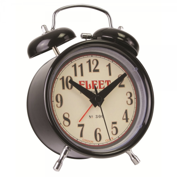 London Clock Co London Clock Co Black Twin Bell Alarm - London Clock ...