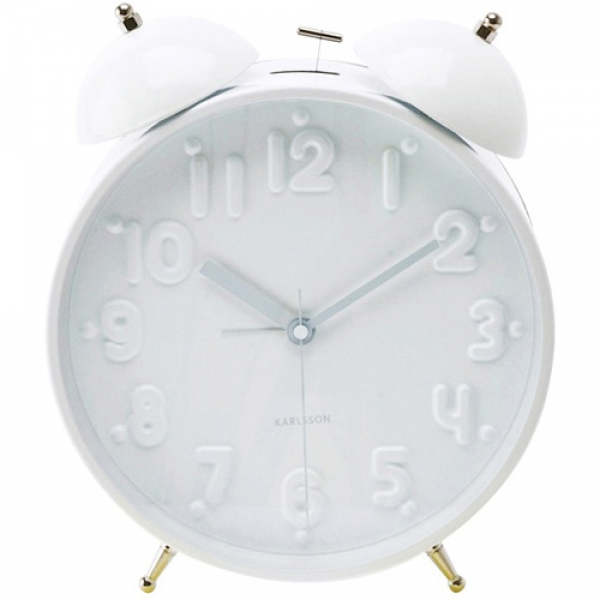 Twin Bell Alarm Clock White | I return | Pinterest