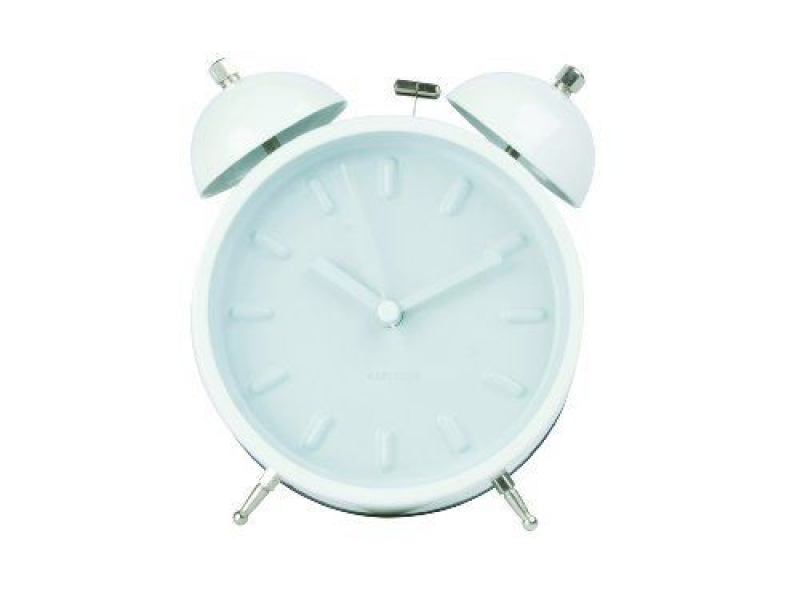 Twin Bell Retro Alarm Clock - White | Homey | Pinterest