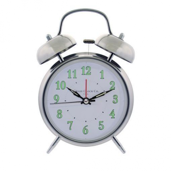 Twin Bell Alarm Clock White Dial