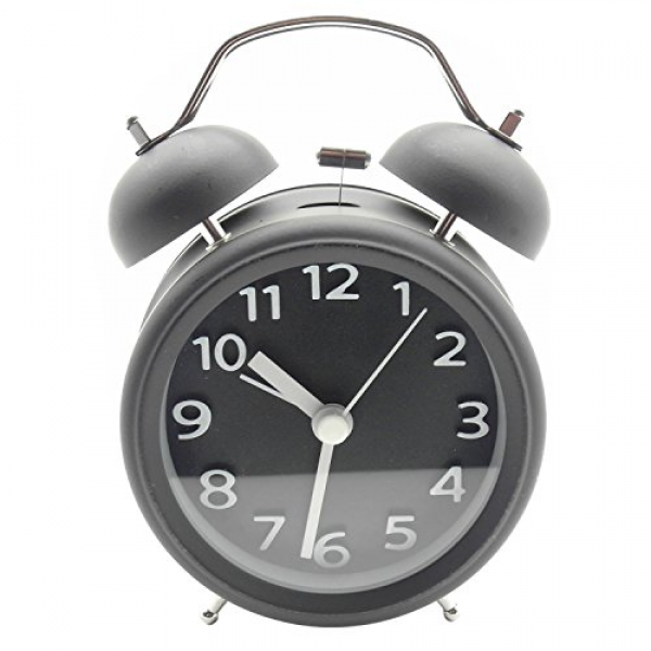 ... Analog Retro Vintage bedside Twin Bell Alarm Clock With Loud Alarm and