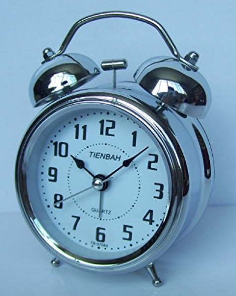 quartz analog twin bell alarm clock with nightlight and loud alarm ...