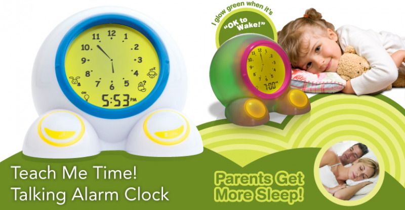 Teach Me Time Talking Alarm Clock and Night-Light