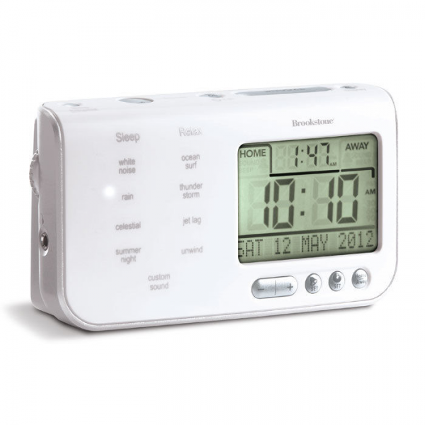 Tranquil Moments Travel Alarm Clock Sound Machine at Brookstone—Buy ...