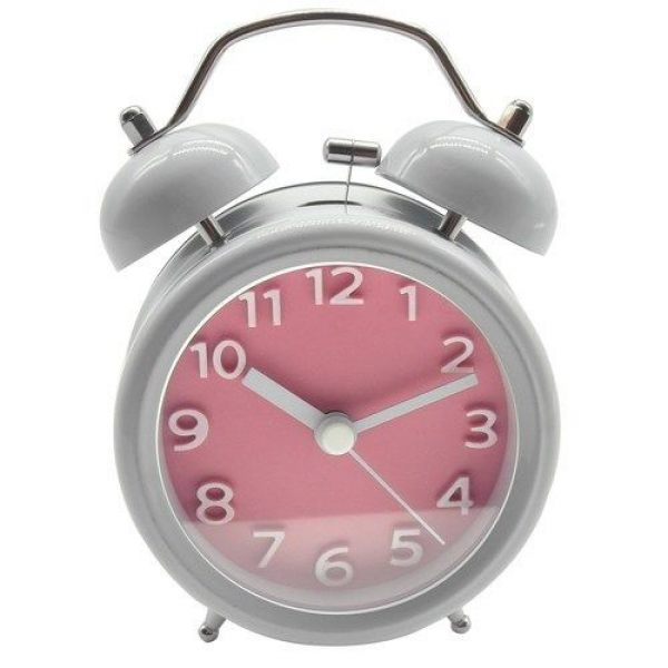 ... Analog Vintage Twin Bell Clock Heavy Sleeper Loud Alarm Pink | eBay