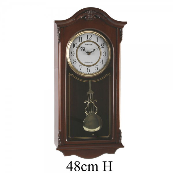 Rhythm Westminster Chime Wooden Arch Wall Clock with Pendulum | eBay