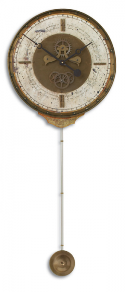 High-class Leonardo Chronograph Cream Weathered Pendulum Wall Clock ...