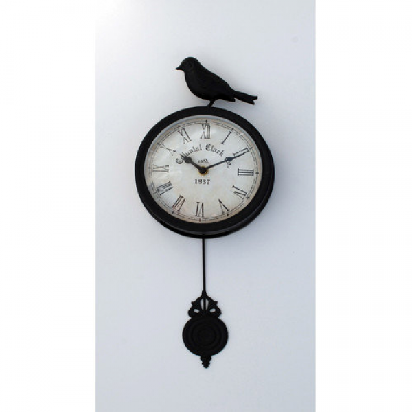 Ashton Sutton 6'' Bird Pendulum Wall Clock - Walmart.com