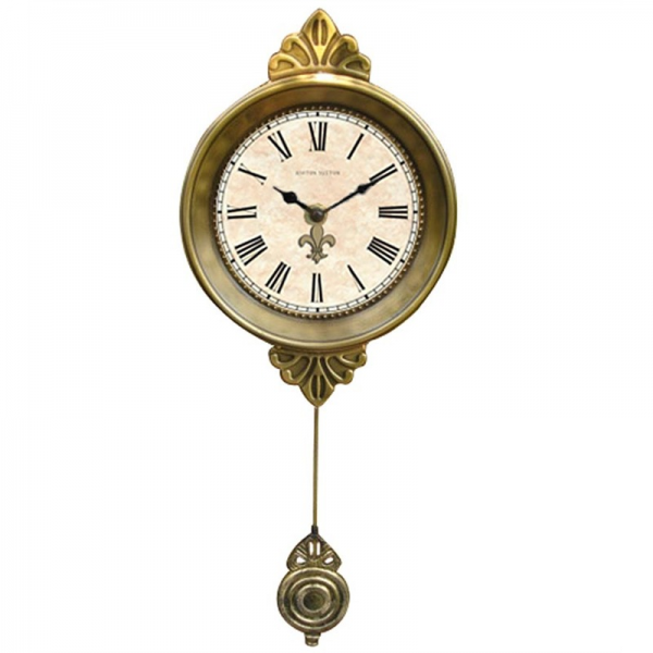 ... Clocks > Petit Fleur De Lis Wall Clock With Pendulum by Ashton Sutton