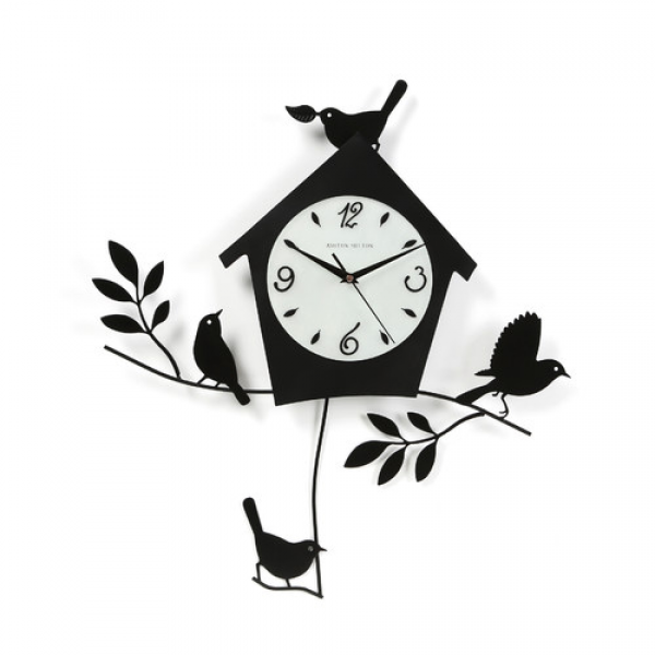 Ashton Sutton 20 Birds and Bird House Wall Clock & Reviews | Wayfair