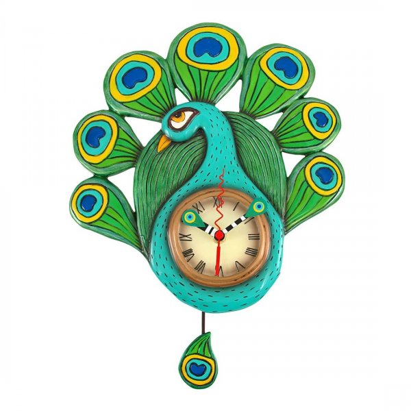 Allen Designs Pendulum Clock PRETTY PEACOCK | eBay