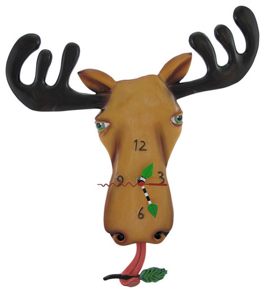 Allen Designs 'Moose Lee' Pendulum Wall Clock - Eclectic - Clocks - by ...