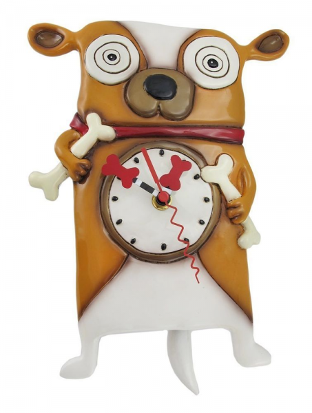 Allen Designs Roofus The Dog Pendulum Childs Kids Whimsical Wall Clock ...