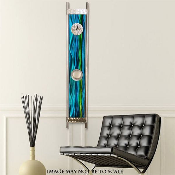 Metal Abstract Pendulum Wall Clock / Blue River by statements2000, $ ...