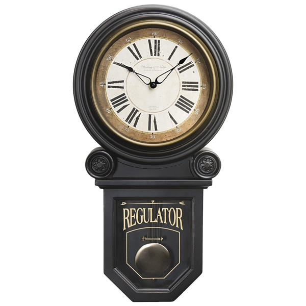 Sterling & Noble Regulator Pendulum Wall Clock in See Photo
